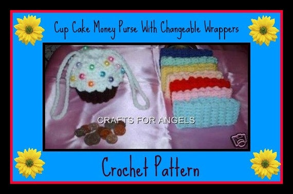 Cup Cake Money Purse With Changeable Wrappers Crochet Pattern