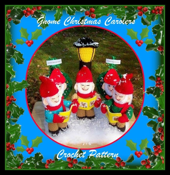 Joy And Noel Holiday Caroler: Gnome Christmas Carolers Crochet Pattern From