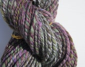 Crocus in Spring - Handspun Polworth and Alpaca Yarn