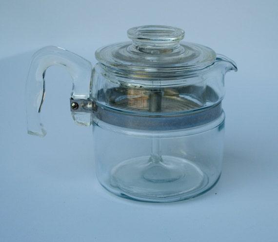 Vintage Pyrex Glass Coffee Pot