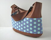 CUSTOM LISTING for Kathy - Zippered hobo and abstract leather clutch