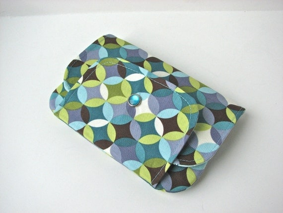 Snap Wallet, iPhone wallet in Geometric Dot in Chocolate - ready to ship