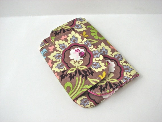 Snap Wallet, iPhone wallet in Double Bloom in Taupe - ready to ship