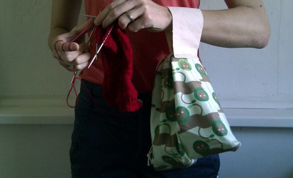 Roar - Socky Wrister - Lined WIP Drawstring Bag - Fixed Strap - Hand-made