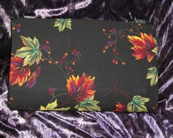 Large Colorful Autumn Leaves Magnetic Purse Cover