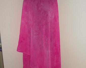 Hot Pink Batik Dyed 3 Yard Georgette Bellydance Veil