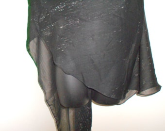 Black Mylar 3 Yard Chiffon Bellydance Veil