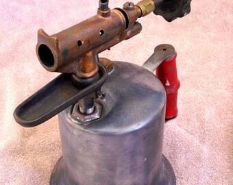 Vintage Antique TURNER 150 Brass Blowtorch / Sycamore, ILL