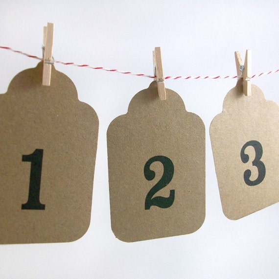 Farmhouse Garland Advent Calendar Kit - Kraft and Black