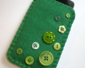 iPhone Case - Green Buttons