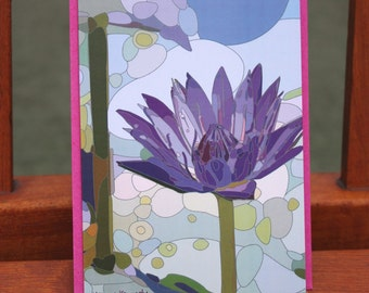 Thai water lily card