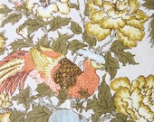 vintage waverly westover fabric yard plus (birds fruit and flowers from the tidewater collection)