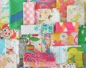 vintage fabric scrap bundle 35