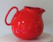 vintage waechtersbach ball pitcher bright red (W. Germany)