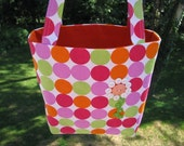 Carry All Tote Bag With Button Flower