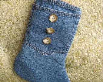 Denim Stocking-Western-Cowboy-Country-Blue Jeans