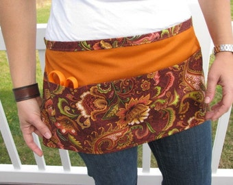 SALE: Half Apron Paisley and Flowers