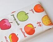 apple varieties - tea towel - linen-cotton - kitchen towel