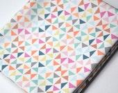 pinwheels  - pastel fabric - fat quarter - triangle fabric - geometric fabric