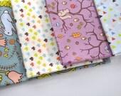 woodland creatures FQ bundle - original fabric - fat quarters - forest fabric - fat quarter bundle