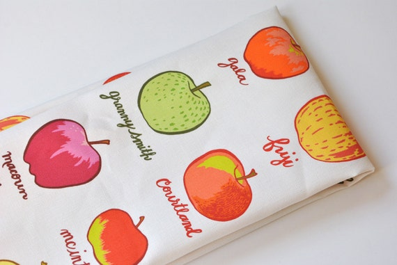 apple varieties - tea towel - linen-cotton - kitchen towel