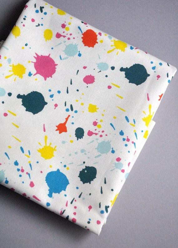 splattered - original fabric - fat quarter - paint splatter fabric