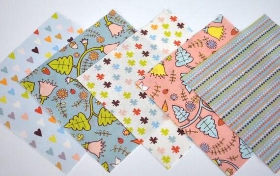 charm pack - clover patch - original fabric - charm squares
