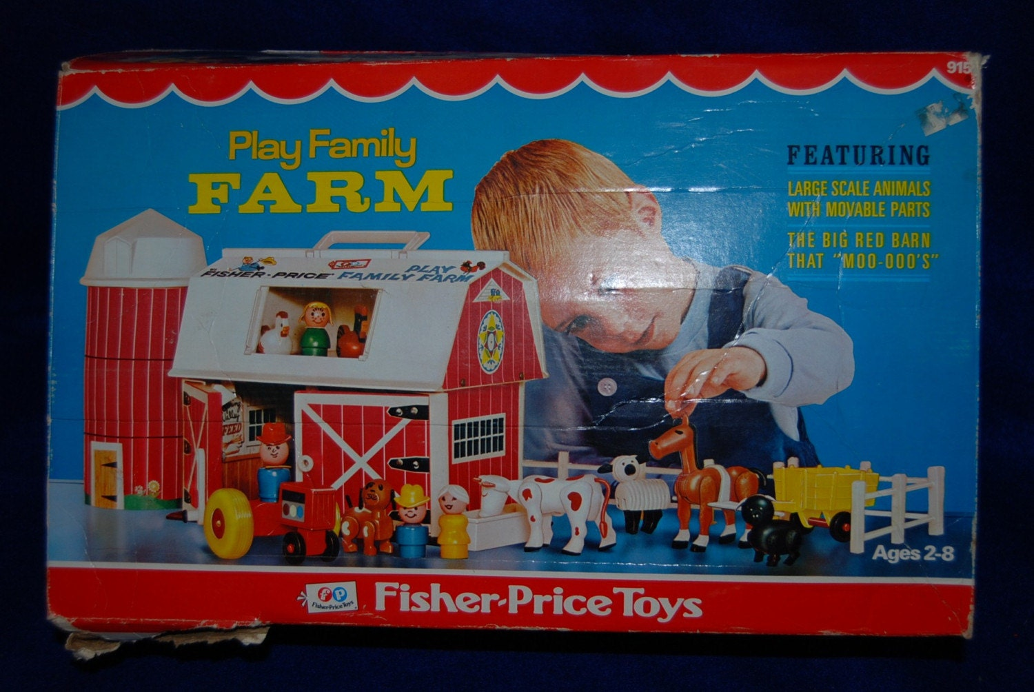 Vintage 1960s Fisher Price Play Family Little People Farm