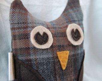 Plush OWL toy - Ewan - children gift woodland - stocking stuffer