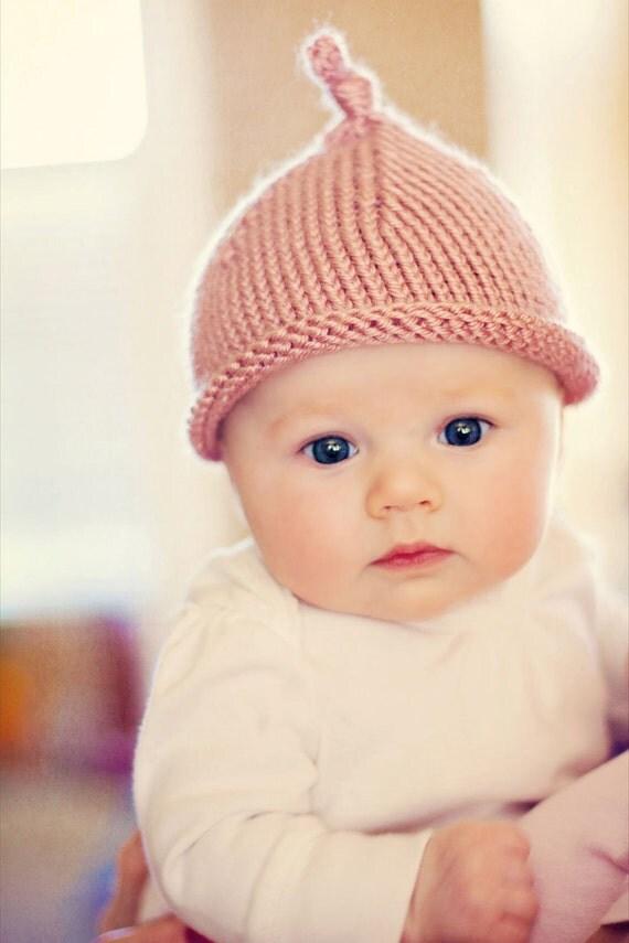 Baby knit hat - KNOT HAT - Pink - Dusty Rose - newborn children kids girl