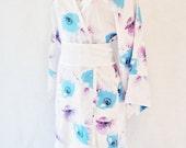 Kimono Robe Dressing Gown Bathrobe Robe Womens - Iced Poppies