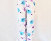 Poppy Pajama Pants Bottoms Full Length - Iced Poppies