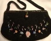 Vintage Beaded Delill Handbag