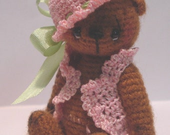Crochet Pattern for Hanna a Thread Artist Teddy Bear  by Joanne Noel of  Bayou Bears
