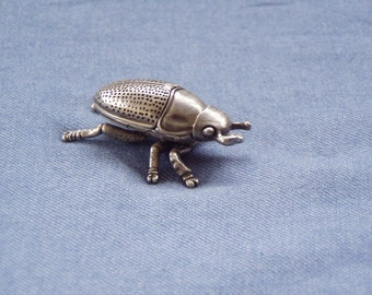 Art Deco Curio 3D Pewter Beetle Puzzle Sculpture