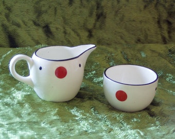 Miniature 1940s Grays Pottery Tea For One  Collectible
