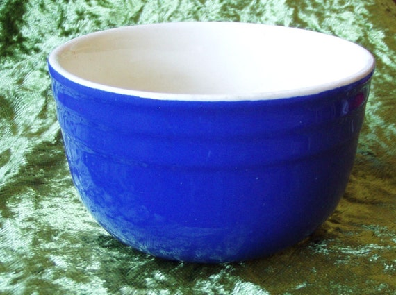 Antique  American Cobalt Blue Mixing Bowl