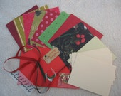 Do It Yourself Card Kit- Christmas Red\/Green Theme