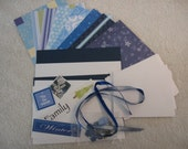 Do It Yourself Card Kit- Christmas Blue Theme