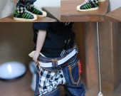 Blythe check Point jeans-Black
