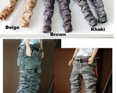 washing cotton pants-Khaki