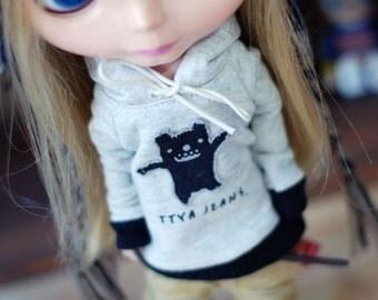 Blythe -Cute Monster Hooded T-Shirt