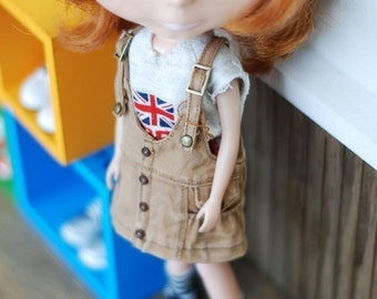 blythe Washing Overall-Skirt Beige