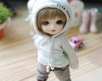 Lati yellow Pukifee Vintage Hooded T -Beige