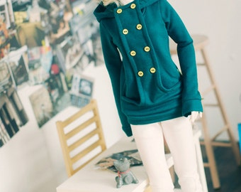 Chic hooded-T Bluish Green