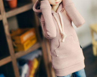 MSD Long Hooded-T Indi Pink