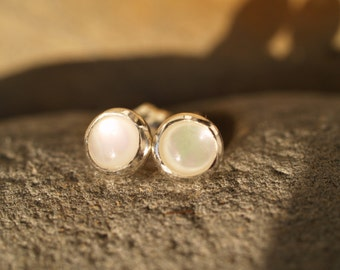 mother of pearl ear posts