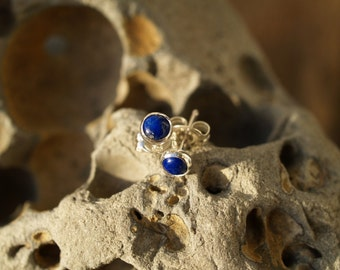 lapis lazuli ear posts