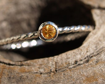 tiny spessartite garnet ring made to order