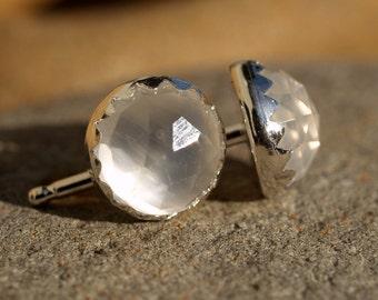 6mm  moonstone earrings